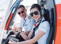 Thanh Hằng và dàn sao ngồi trực thăng tới Vũng Tàu dự sự kiện