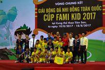 SLNA vô địch giải bóng đá U11 toàn quốc 2017