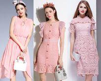 Xuống phố cuốn hút mọi ánh nhìn vói BST đầm màu hồng dễ thương, siêu xinh