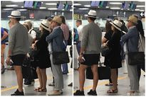 Kim Tae Hee khéo che bụng bầu tại sân bay Ý