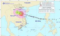 11h ngày 15/9, vị trí tâm bão số 10 nằm trên vùng biển các tỉnh từ Hà Tĩnh đến Quảng Trị
