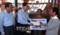 Chủ tịch Ủy ban Trung ương MTTQ Việt Nam thăm hỏi, hỗ trợ các tỉnh khắc phục sau bão số 10