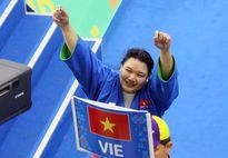 Nữ võ sỹ 100kg đoạt HCV cho đoàn Việt Nam tại AIMAG 2017