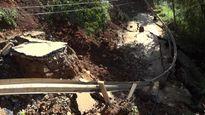 Yên Bái: Tỉnh lộ 174 sụt lún 30 mét nền đường, giao thông bị chia cắt