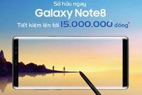 Tiêu dùng thông minh với Galaxy Note 8, khách hàng đặt mua máy tại MobiFone nhận quà hấp dẫn