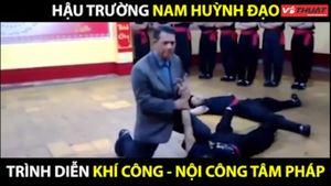 Clip hậu trường võ công 'truyền điện' của Nam Huỳnh Đạo