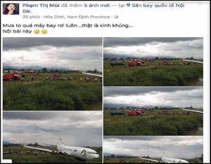 Bác bỏ tin 'máy bay bị rơi tại Nội Bài'