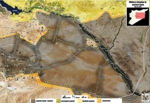 Quân đội Syria tử chiến với IS trên sa mạc Homs