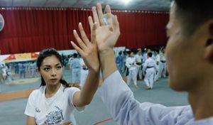 Con gái đại sư Nam Anh tập võ Vịnh Xuân ở Sài Gòn