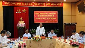 Phó Thủ tướng Trương Hòa Bình thăm và làm việc tại tỉnh Quảng Ngãi