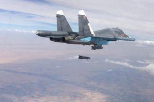 Chiến đấu cơ Nga phối hợp Syria tung hỏa lực oanh kích vỡ trận địa phòng thủ IS