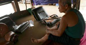 Clip, ảnh: Bãi giữa sông Hồng mênh mông mùa nước ngập