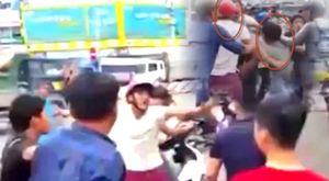 Nện người già chảy máu, 2 kẻ côn đồ bị dân ở Biên Hòa vây đánh nhừ tử