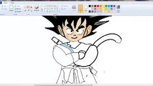 Vẽ Songoku bằng MS Paint