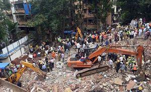 Sập nhà 4 tầng, hàng chục người thương vong và mắc kẹt