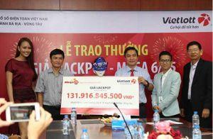 Chủ nhân của giải jackpot 132 tỷ của Vietlott đã nhận giải, tiết lộ tiết lộ thông tin tấm vé
