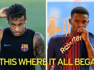 Trước 'El Clasico', Neymar hành hung đồng đội mới ở Barca