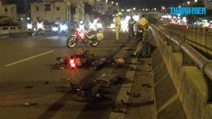 Chạy xe máy ngược chiều trên cầu Bình Lợi, một người chết tại chỗ
