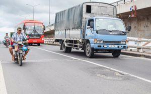 Đường lún, ổ gà trên đoạn quốc lộ đầu tư 300 tỷ trải thảm ở Cai Lậy
