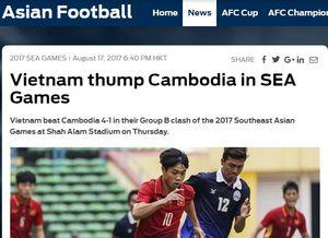 Báo nước ngoài: U22 Việt Nam tung đòn trời giáng vào Campuchia