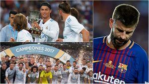 Ronaldo hớn hở trong ngày Pique lỡ cơ hội 'vua phá lưới'