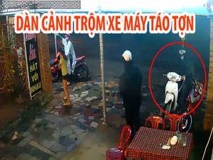 Nhóm thanh niên dàn cảnh trộm xe máy táo tợn trước quán nhậu