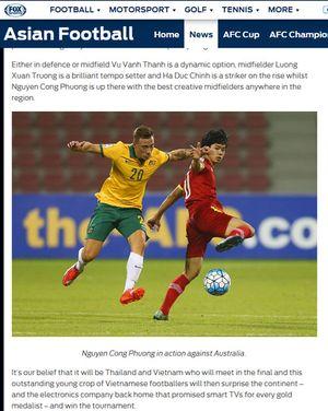 Báo quốc tế đánh giá thế nào về Công Phượng ở SEA Games 29?