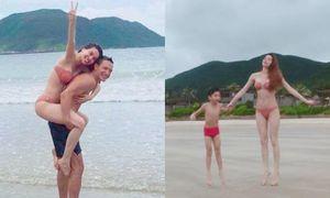 Clip: Hà Hồ lại bị bắt gặp thân mật cùng Kim Lý, lần này có cả mẹ và con trai Subeo