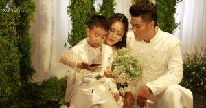 Bé Cà Pháo - con trai Lê Phương dõng dạc bày tỏ cảm xúc trong ngày vui của mẹ và cha dượng