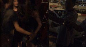 Trộm ví của tài xế taxi, 2 cô gái Tây bị hành hung giữa đường