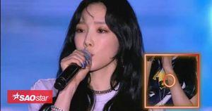 Hậu hỗn loạn sân bay, Taeyeon kiệm lời 'đánh nhanh rút gọn' trong đêm nhạc tại Indo