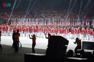 Clip: Khoảnh khắc Đoàn TTVN tiến vào lễ đài ở Lễ khai mạc SEA Games 29