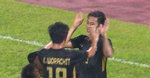 Clip: U22 Thái Lan 'hủy diệt' U22 Campuchia trong trận cầu 2 thẻ đỏ