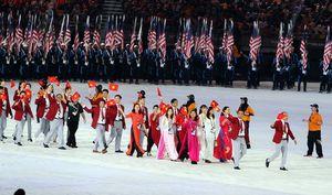 Đoàn Thể thao Việt Nam trong đêm khai mạc SEA Games 29