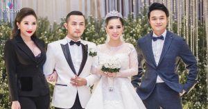 Quang Vinh bảnh bao dự đám cưới của anh trai Bảo Thy và vợ 9X