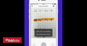 Chụp ảnh đề toán, ứng dụng này sẽ giảng và giải toán từng bước cụ thể như giáo viên