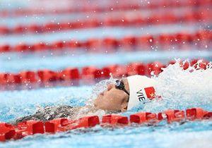 Ánh Viên thi chung kết môn bơi ở SEA Games 29