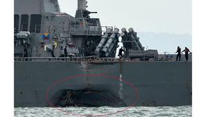 Tàu chiến Mỹ va chạm tàu dầu ở Biển Đông