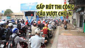 Công trình cầu vượt Nguyễn Thái Sơn - Nguyễn Kiệm gấp rút thi công