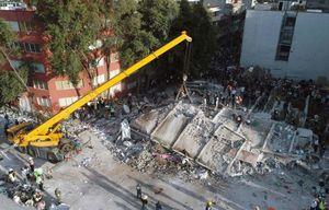 Thủ đô Mexico đổ nát sau động đất nhìn từ trên cao