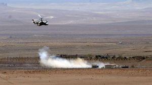 Xe tải nguyên vẹn sau khi trúng 3 quả rocket của Ka-52