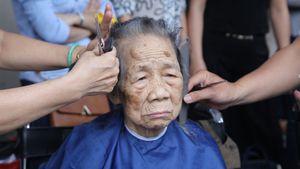 Mang salon tóc vào bệnh viện