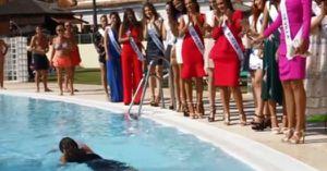 Chết cười với tai nạn của người đẹp thi Hoa hậu Tây Ban Nha