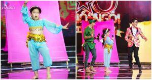 Thanh Bạch so tài múa bụng với thí sinh nhí trên truyền hình