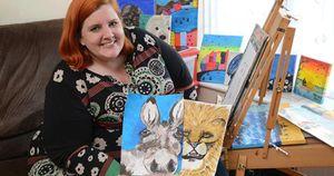 Bà mẹ đột nhiên có khiếu vẽ tranh sau khi u não phát triển