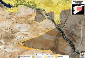 'Hổ Syria' sắp chiếm cứ địa IS, quân đội Syria đánh mạnh trên bờ đông Euphrates