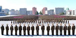 Người Triều Tiên biểu tình chống Mỹ và Tổng thống Trump