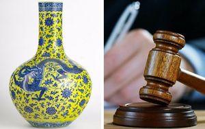 Bình 'cổ' nghi từ thời Càn Long được bán gấp 10.000 lần giá ước tính