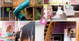 Clip hot: Ông bố 'soái ca' xây nhà 2 tầng đẹp lung linh cho con gái chơi