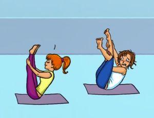 Những tình huống hài hước trong buổi đầu tập yoga